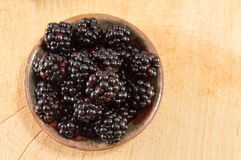 Blackberries on a plate Stock Photography