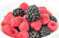 Blackberries and Raspberries Royalty Free Stock Images