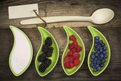 Blackberries, Raspberries, Blueberries Stock Image