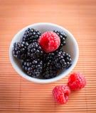 Blackberries, raspberries Royalty Free Stock Image