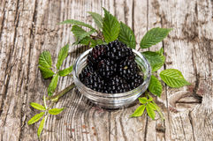 Blackberries in a small bowl Royalty Free Stock Photos