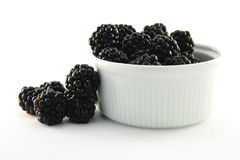 Blackberries in a Small Round Dish Royalty Free Stock Photo