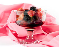strawberries and blackberries Stock Images