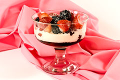 berries and cream Stock Photos