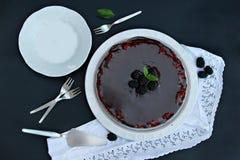 Blackberries tart Stock Photo