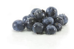 Blackberries on white. Luscious fresh wet blackberries isolated on white background Royalty Free Stock Image