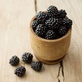Blackberries on white background royalty free stock photos
