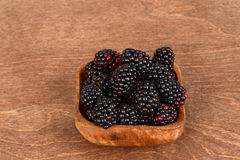 Blackberries on wood Royalty Free Stock Photography