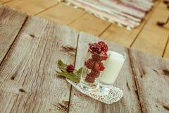 Blackberries on wooden table Stock Photos