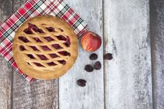 Blackberry και πίτα μήλων με τα φρούτα Στοκ εικόνες με δικαίωμα ελεύθερης χρήσης