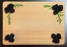 Blackberry και Arugula Στοκ εικόνες με δικαίωμα ελεύθερης χρήσης