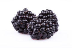 The blackberry. Berry is isolated on a white background Stock Photo