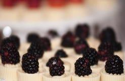 Blackberry. A bunch of mini blackberry pie Stock Photos
