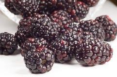 Blackberry. Very close; macro; fresh Stock Image