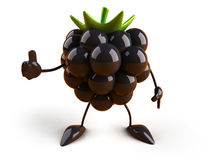 Blackberry. Fun Blackberry, 3d generated picture vector illustration
