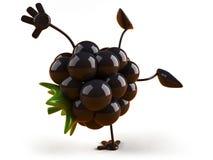 Blackberry. Fun Blackberry, 3d generated picture stock illustration