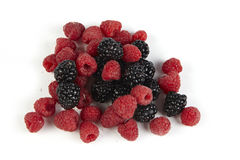 Blackberry And Raspberry Royalty Free Stock Photo