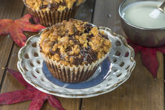 Blackberry and apple cupcakes Stock Photography