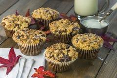 Blackberry and apple cupcakes Stock Photo