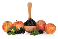 Blackberry and Apple Fruit Stock Images