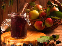 Blackberry & Apple Jam Stock Images