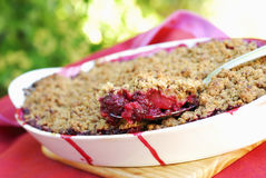 Blackberry and apple pie. Food, gastronomy,culinary,cookery Royalty Free Stock Photo