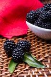 Blackberry auf Weidenhintergrund lizenzfreie stockfotografie