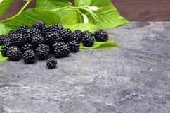 BlackBerry on black background Stock Photos