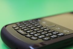 BlackBerry Black Mobile stock image