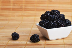Blackberry in bowl Stock Image