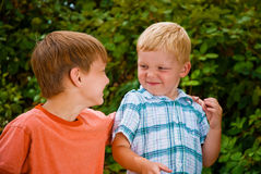 Blackberry Boys Stock Photo