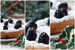 Blackberry Cake Collage Royalty Free Stock Photo