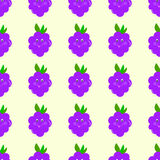 Blackberry cartoon seamless pattern vector eyes, smiling, baby, cute Stock Images