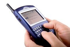 Blackberry cell phone Royalty Free Stock Image