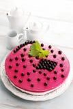 Blackberry cheesecake Stock Image