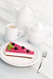 Blackberry cheesecake Royalty Free Stock Images