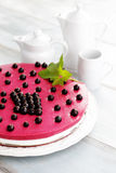 Blackberry cheesecake Stock Photos
