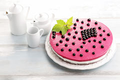 Blackberry cheesecake Royalty Free Stock Photography