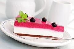 Blackberry cheesecake Royalty Free Stock Image