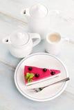 Blackberry cheesecake Stock Photo