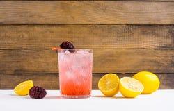 Blackberry-Cocktail stockfotos
