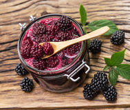 Blackberry confiture. Stock Photography
