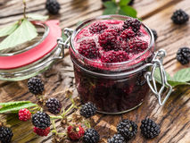 Blackberry confiture. Stock Images