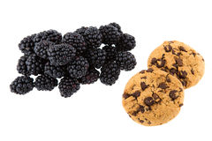 Blackberry and cookies Stock Photography