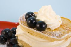 Blackberry Crepes Royalty Free Stock Photography