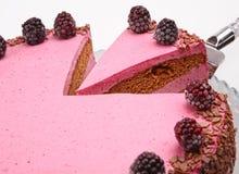 Blackberry decorated cake Royalty Free Stock Photos