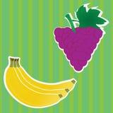 Blackberry en banaan stock illustratie