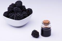 Blackberry en fles Stock Foto