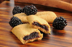 Blackberry filled breakfast bars Royalty Free Stock Photo