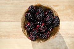 Blackberry fruit. On bowl Stock Photography